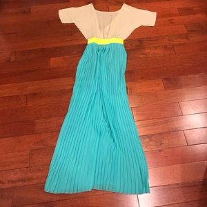 👠colorblock maxi dress