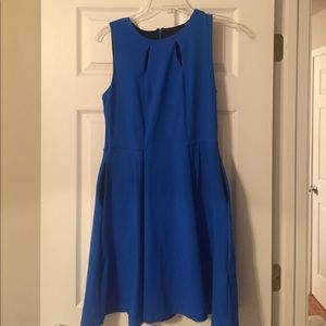 Royal Blue Fit & Flare Dress