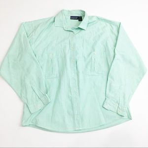 ⚫️ Patagonia Green Button Down Top
