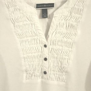 Karen Scott White Knit Blouse, Sz. S