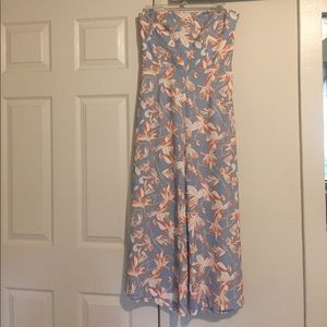 H&M Floral Blue Jumpsuit size 10
