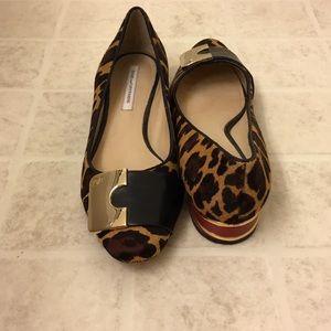 Diane  von Furstenberg Cheetah Leopard Flats
