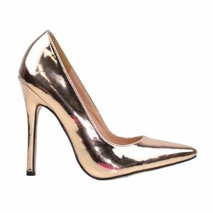 Chase & Chloe Lala-4 R.Gold Women Pointy Toe Pump