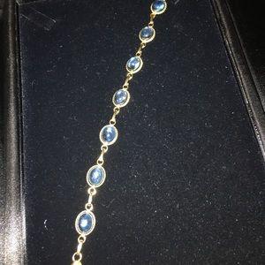 Jewelry - Gold blue topaz bracelet marked 14k GF