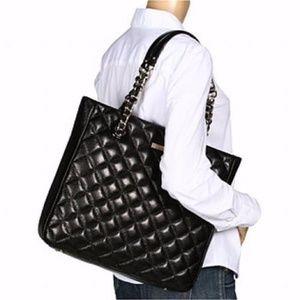Kate Spade Sierra Quilted Black Chain Tote Bag