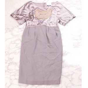 3.1 Phillip Lim purple embroidered pencil dress