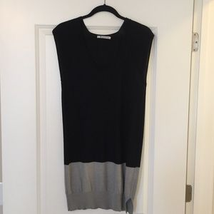 Alexander Wang Black & Grey Sleeveless Knit Top