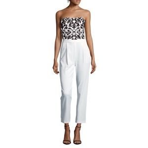 Alice and Olivia Jeri Jumpsuit in off white