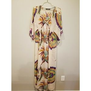 Floor Length Boutique Wrap Dress