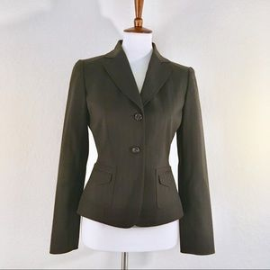 Tahari brown striped career blazer