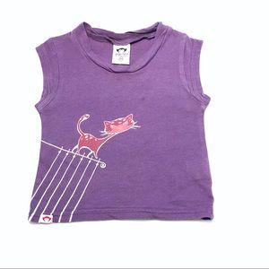 Appaman Purple Batik Cat Tee