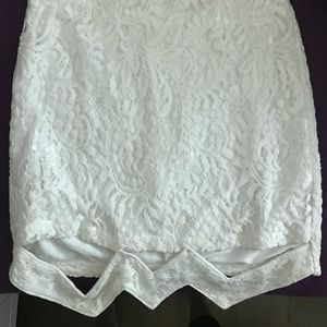 White mini skirt with trim detail only worn once