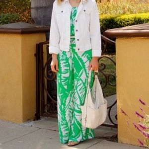 Lilly Pulitzer Green Palm Boom Boom Jumpsuit