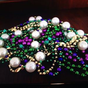 Accessories - Mardi Gras beads--set of 11