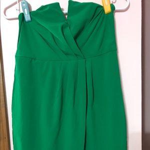 Dresses & Skirts - Green strapless dress
