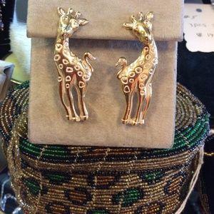 Vintage Jewelry - Giraffe Earrings 2 ways to wear Avon