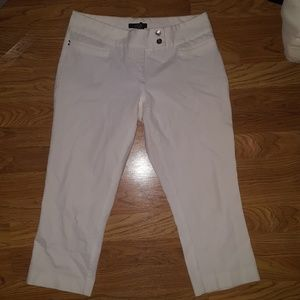 White capris with tummy control top