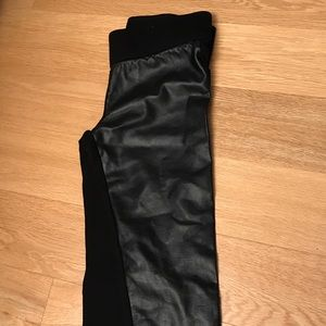 Leggings (front fake leather)