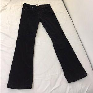 Vintage Calvin Klein velvety corduroy black pants