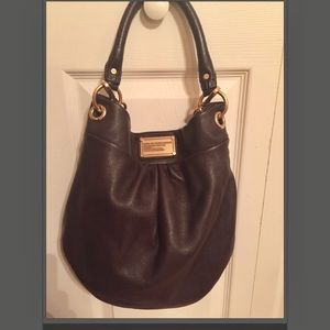 "Marc Jacobs Classic ""Q"" Hillier brown hobo bag"