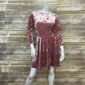 TopShop Crushed Velvet Skater Dress
