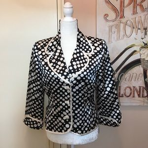 JS Collections silk Polka Dot Blazer.