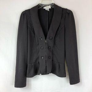 Ami Sanzuri Double Breasted Zip Jacket Size M