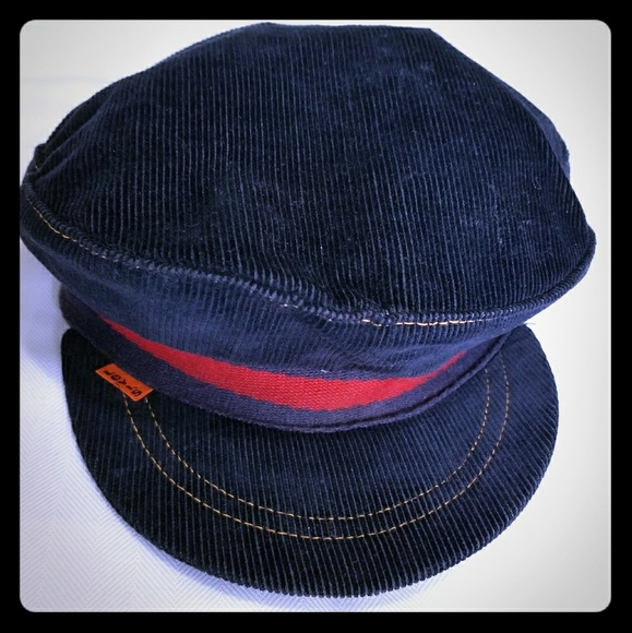 Levi s Accessories - Levi s Navy Blue Courdroy News Boy Hat Cap 3a31cd42ef5