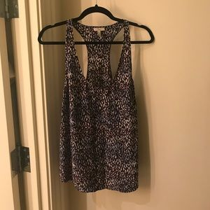 Joie Racerback Leopard 100% Silk Top Size Medium