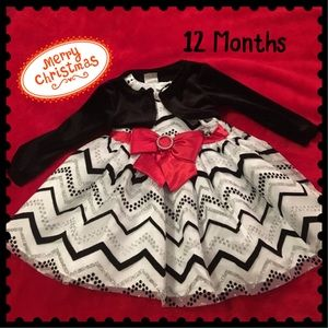 Christmas Dress with Red Bow