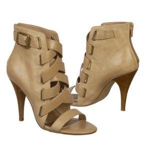 Fergie Jody Strappy Nude Sandal Heels Size 6.5