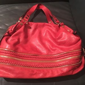 Melie Bianco red shoulder bag