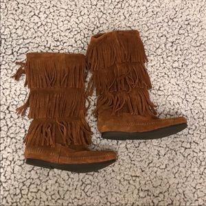 Minnetonka high boots