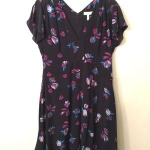 Rebecca Taylor Navy Bellflower A-line dress