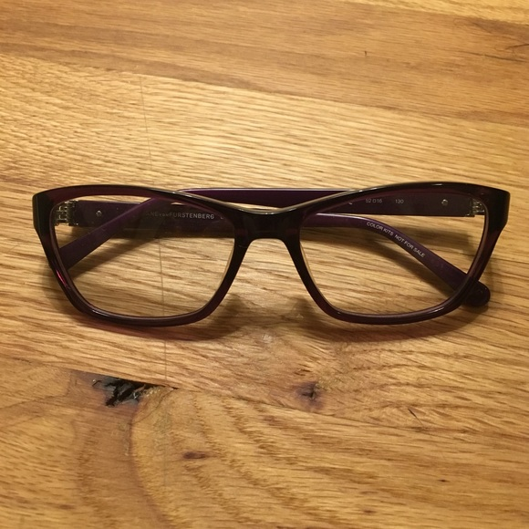 Diane Von Furstenberg Accessories | Dvf Purple Eyeglass Frames ...