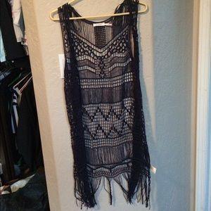 Long lace sweater