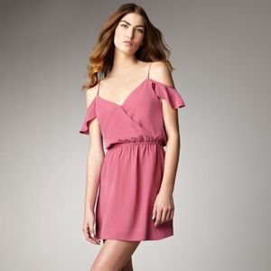 Joie Sari Off the Shoulder Dress Raspberry