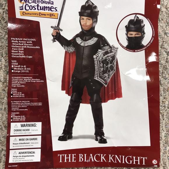 California Costumes Costumes The Black Knight Boys Costume