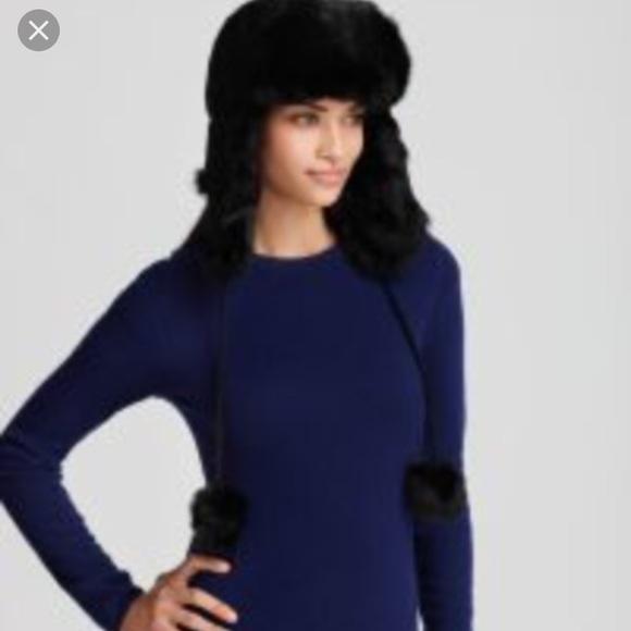 9fb585d6bb6 Surell rabbit fur aviator hat. M 59dc251f7f0a05b56900a424