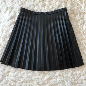 "{j crew} nwt black ""leather"" skirt"