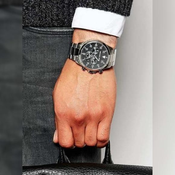 c48669ade2db Michael Kors Men s MK8413 Gage Silvertone Watch