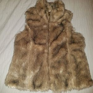 Zara girls fur vest
