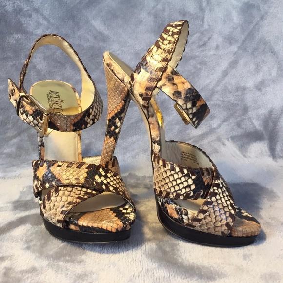 f384868d7f35 MICHAEL KORS Odessa Python Stiletto Sandals. M_59dc290d2fd0b7942b00be96