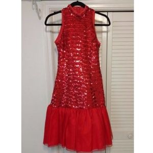 Vtg 80s Nancy Bracoloni Sz 4 Sequin Cocktail Dress