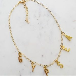 Jewelry - Gold Word charm necklaces!! Perfect for names!