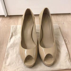 Cole Haan Mariella Open Toe Platform Heels Size 8B