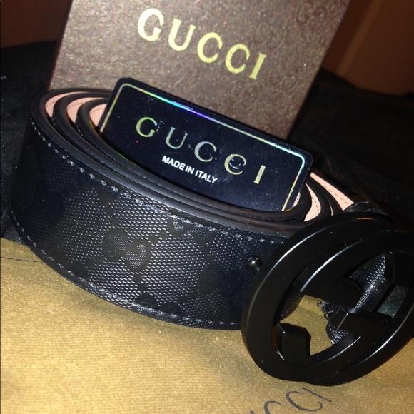 8a129dfcb Gucci Accessories   Mens All Black Belt   Poshmark