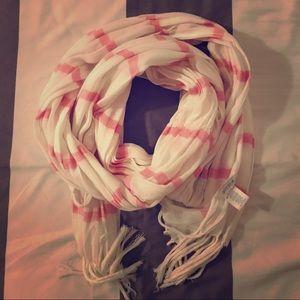 AERIE lightweight striped scarf - pink