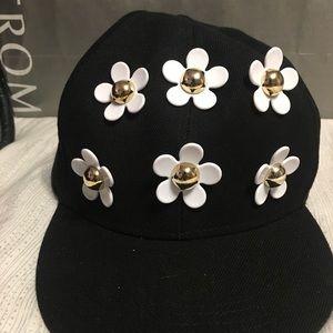 Baseball Cap with 3D acrylic flowers.