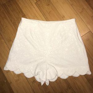 Revolve Monteau Scallop Floral Imprint Shorts